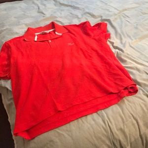 Red Lacoste top